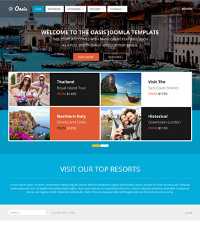 template for joomla 168 with template jditpro travel tour