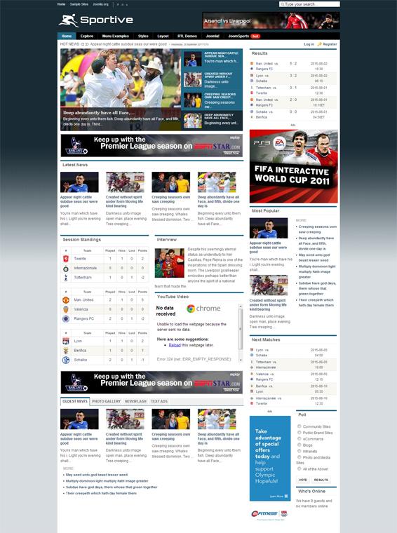 Sport club template joomla per palestre e centri sportivi | mr.